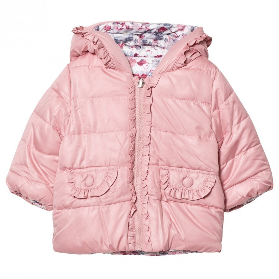 Mayoral Pink Padded Reversible Coat Toppatakki