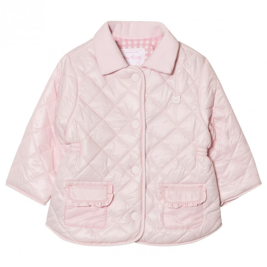 Mayoral Pink Quilted Collared Coat Tikkitakki