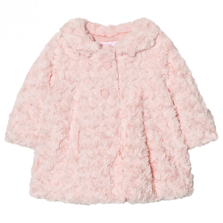 Mayoral Pink Rose Faux Fur Coat Turkis