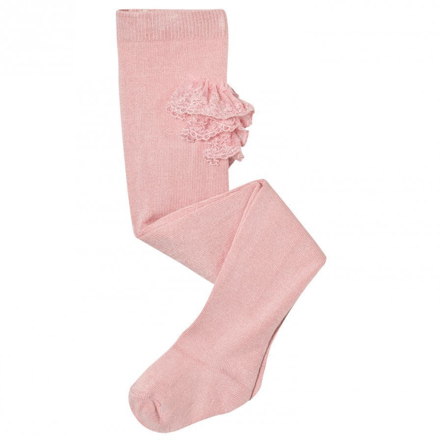 Mayoral Pink Ruffle Tights Sukkahousut