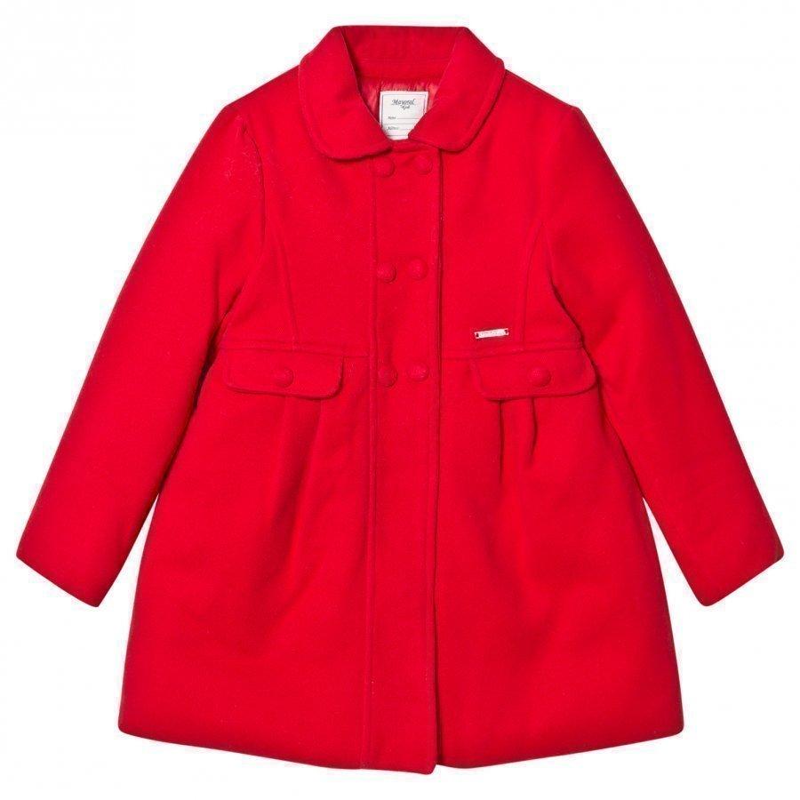 Mayoral Red Faux Mouflon Coat Talvitakki