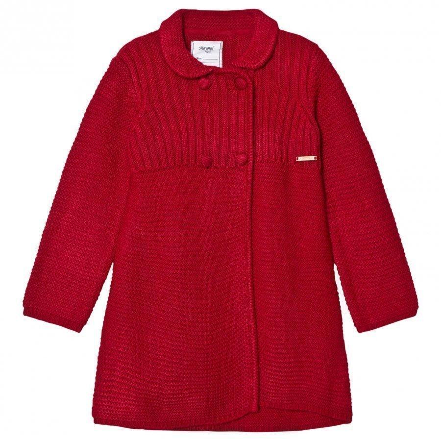 Mayoral Red Knitted Long Cardigan Neuletakki