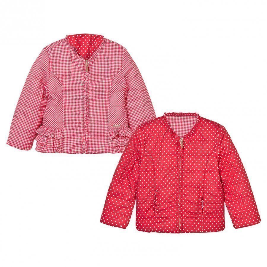 Mayoral Red Reversible Spot Puffer Jacket Toppatakki