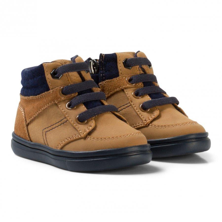 Mayoral Tan Elastic Lace Up Boots Nilkkurit
