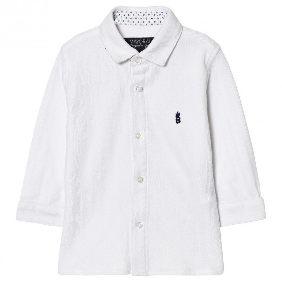Mayoral White Classic Shirt Kauluspaita