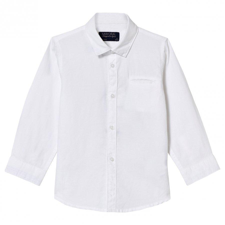 Mayoral White Linen Shirt Kauluspaita