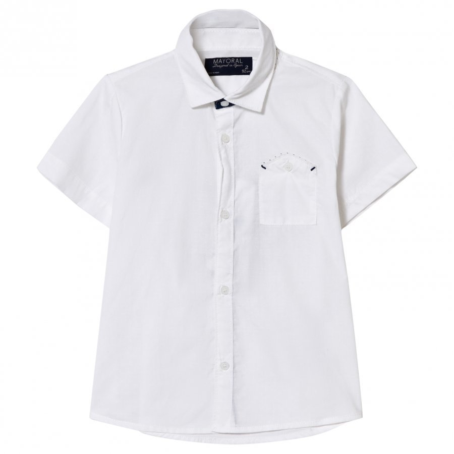 Mayoral White Smart Linen Shirt Kauluspaita