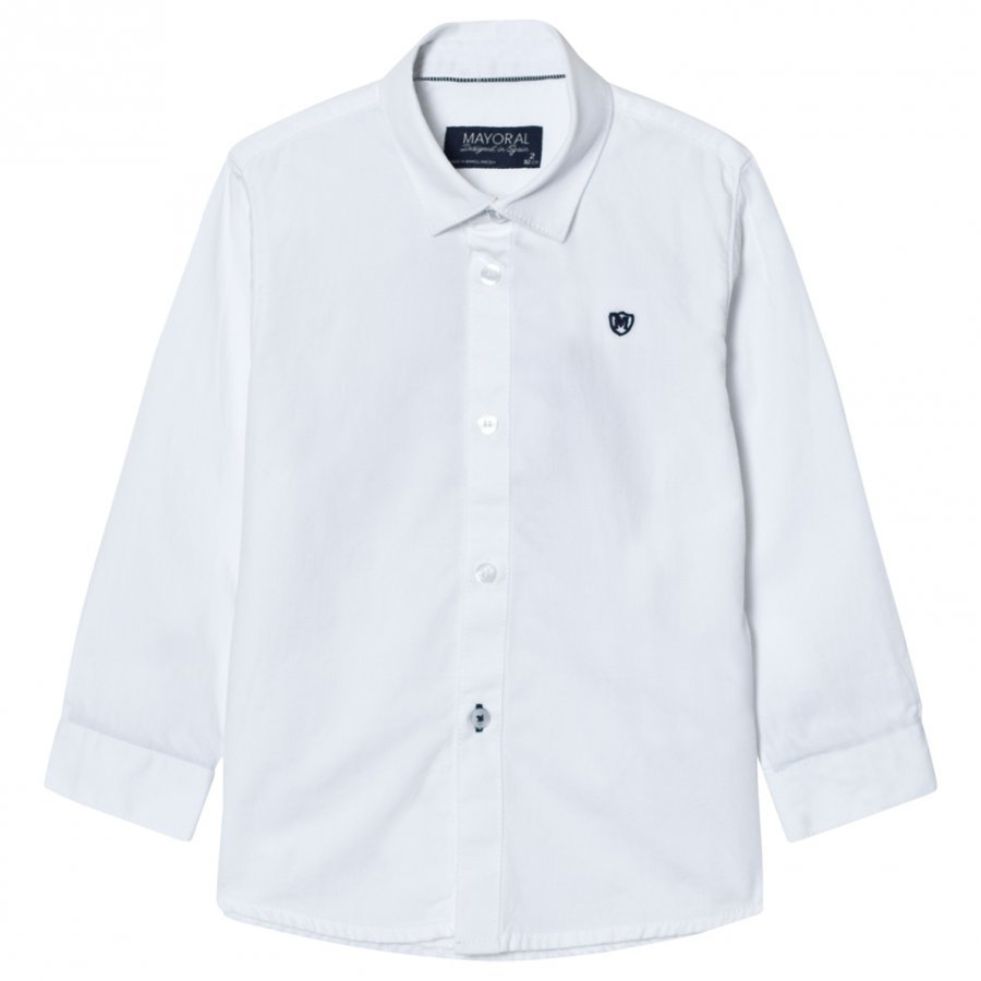 Mayoral White Smart Shirt Kauluspaita