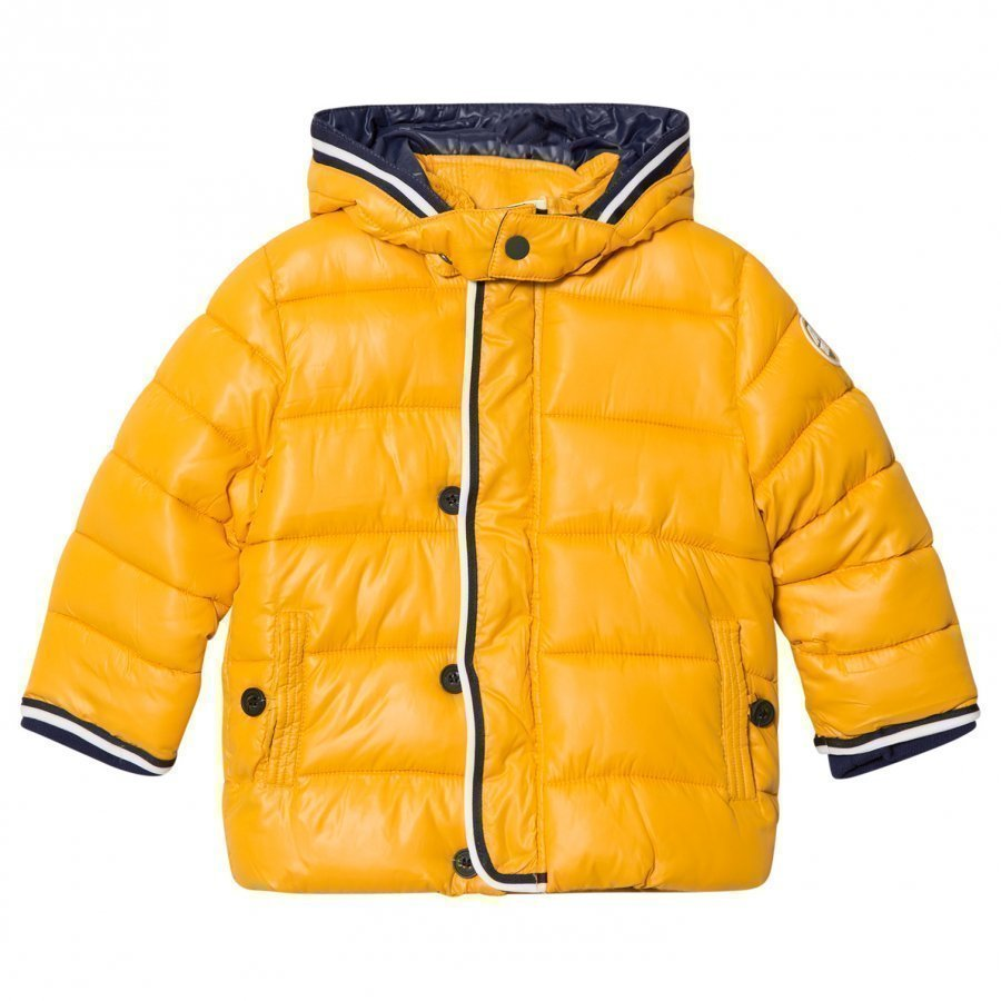 Mayoral Yellow Puffer Coat With Detachable Hood Toppatakki