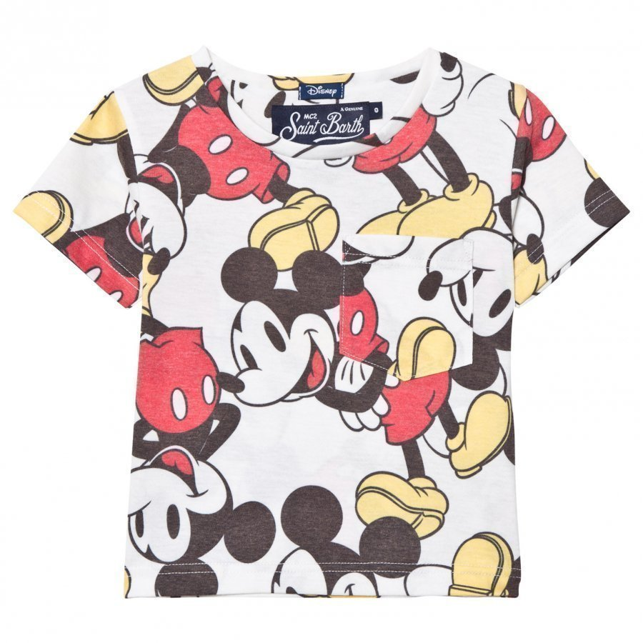 Mc2 St Barth Mickey Mouse Allover Print Tee T-Paita