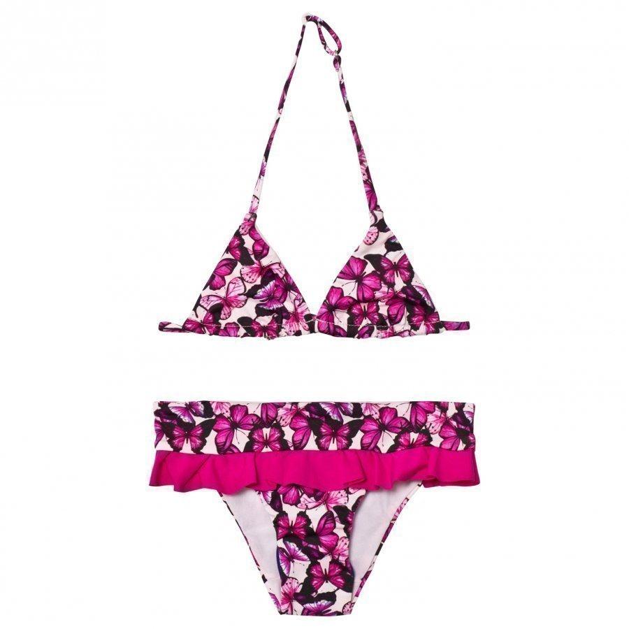 Mc2 St Barth Pink Butterfly Bikini Bikinit