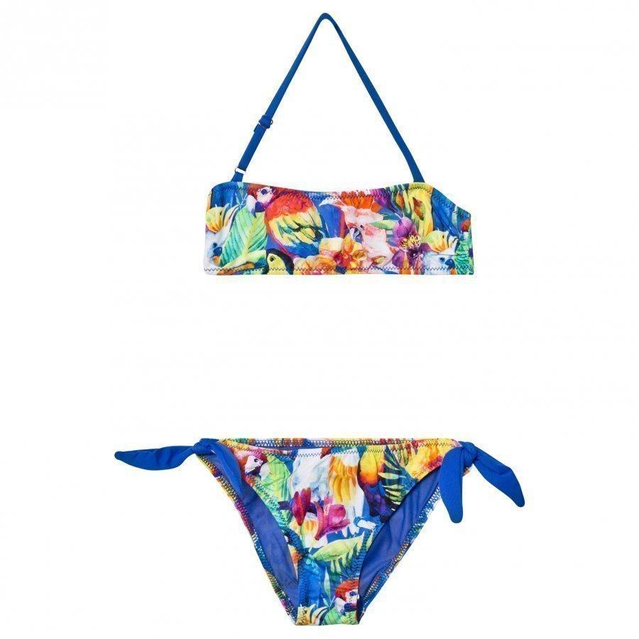 Mc2 St Barth Tropical Birds Bandeau Bikini Bikinit
