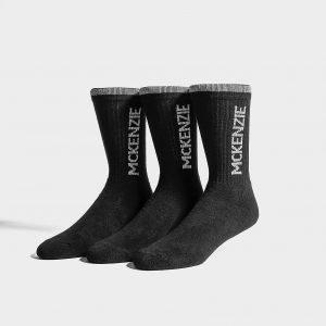 Mckenzie 3 Pack Sports Socks Sukat Musta
