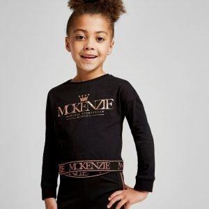Mckenzie Girls' Mini Kaia Long Sleeve Crop T-Shirt Musta