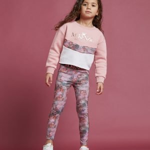 Mckenzie Girls' Mini Rosie Crew Suit Vaaleanpunainen