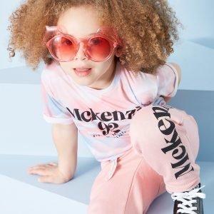 Mckenzie Tyttöjen Zoe Front Knot T-Paita Vaaleanpunainen