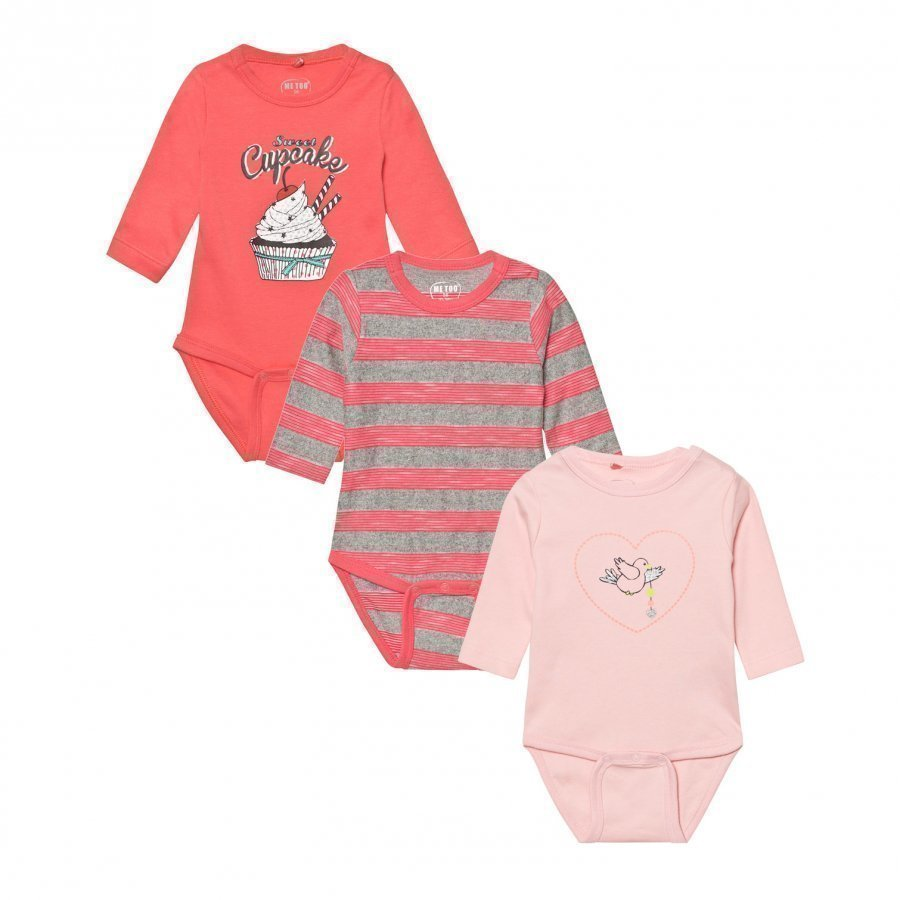 Me Too Kani 223 3-Pack Baby Body Crystal Rose Body