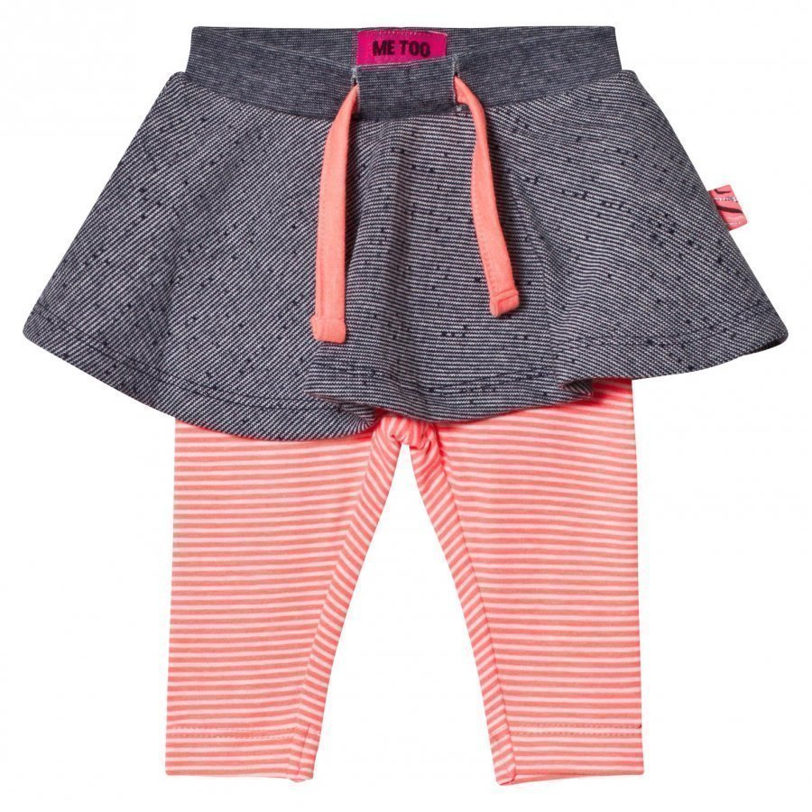 Me Too Kin 259 Skirt With Leggings Bright Coral Lyhyt Hame