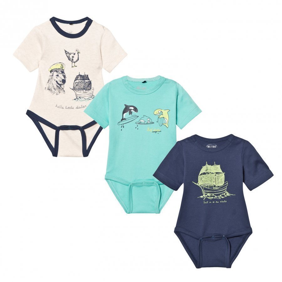 Me Too Las 280 3-Pack Baby Body Dark Denim Body