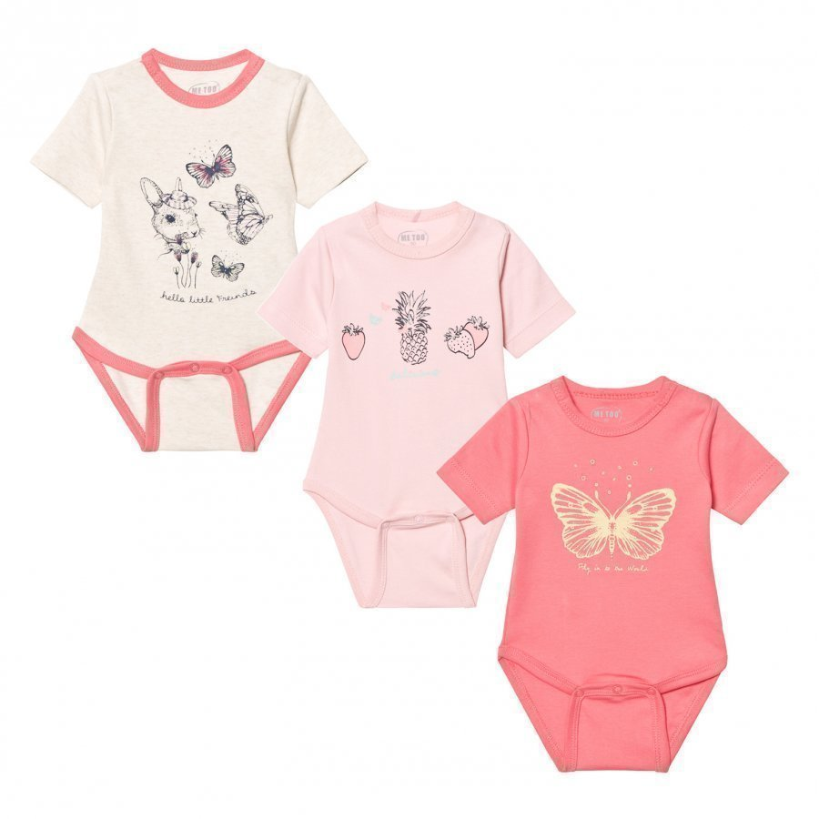 Me Too Las 280 3-Pack Baby Body Strawberry Pink Body