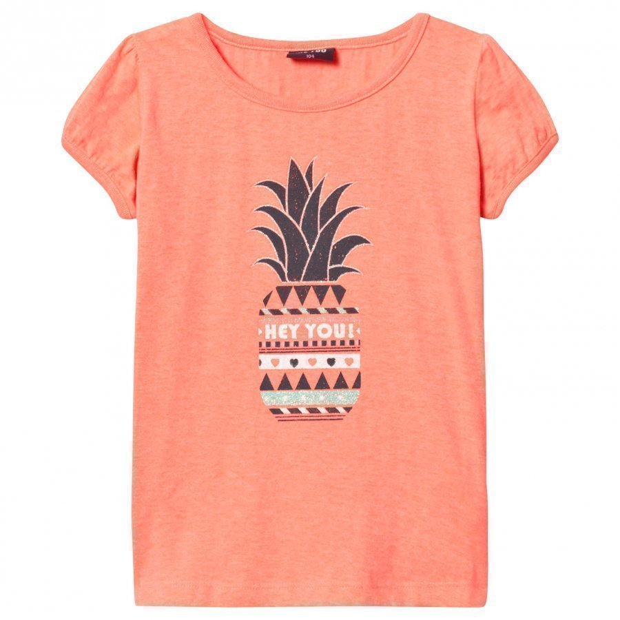 Me Too Lee 307 Top Bright Coral T-Paita