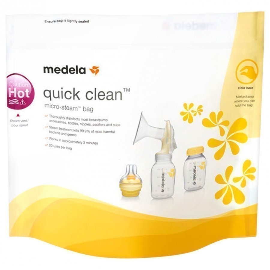 Medela Quick Clean Microwave Bags 5 Pack Mikroaaltouunipaketti