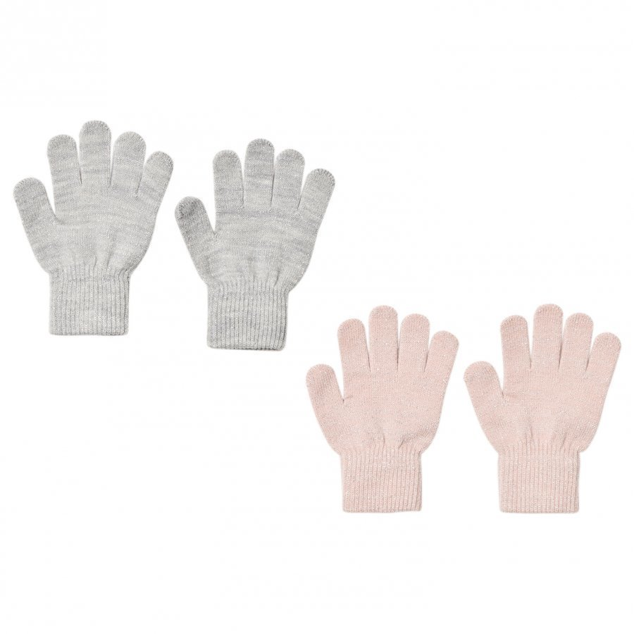 Melton 2 Pack Gloves Rose/Silver Fleece Hanskat
