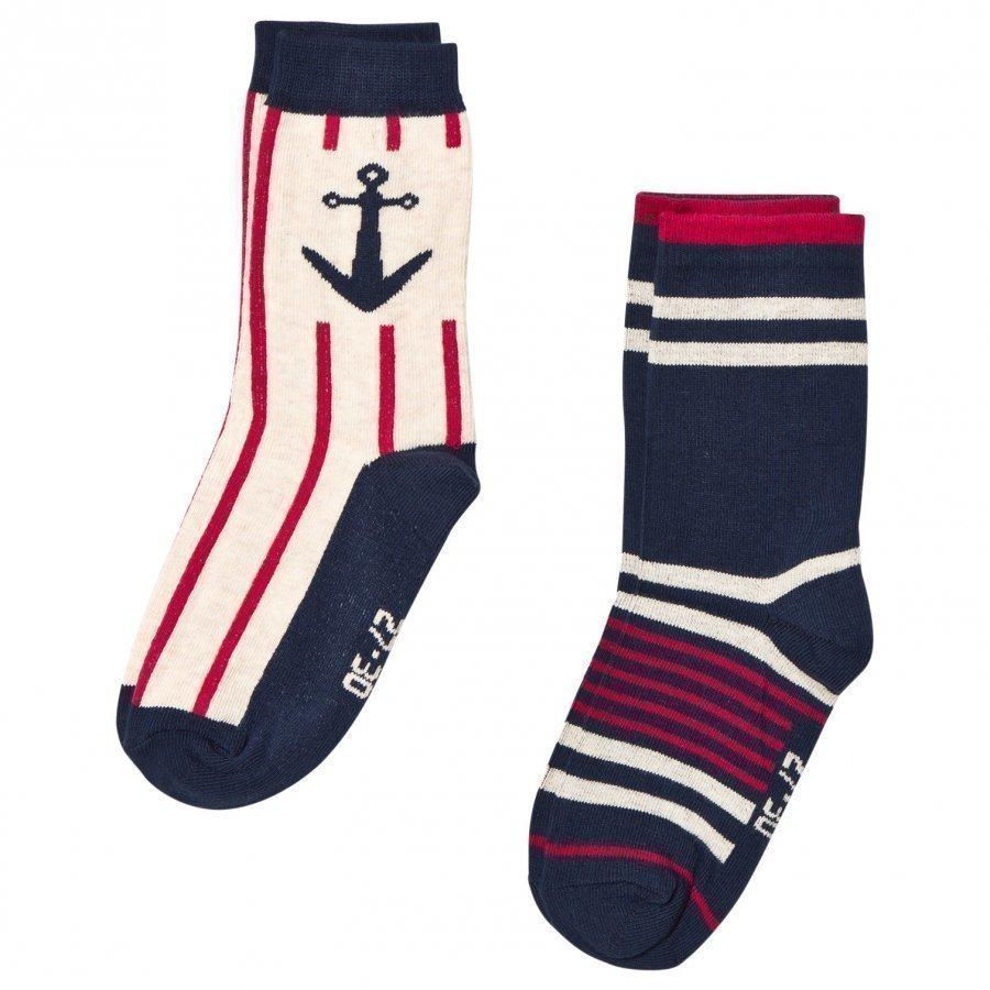 Melton 2 Pack Socks Marine Navy Sukat