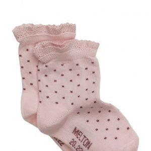 Melton Babysock Small Dots W/Lace