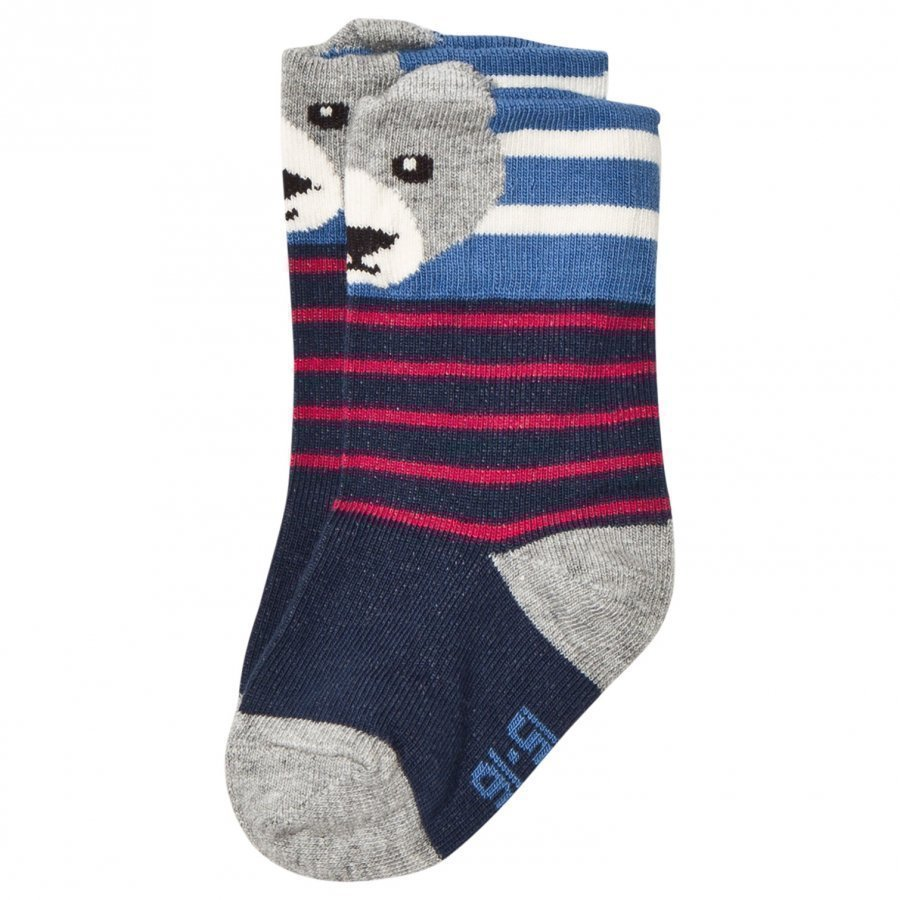 Melton Bear Baby Socks Navy Sukat