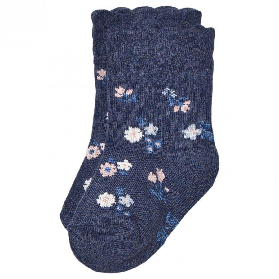 Melton Floral Scallop Baby Socks Sukat
