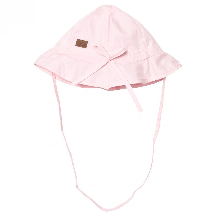 Melton Hat With Brim And Bow Solid Baby Pink Aurinkohattu