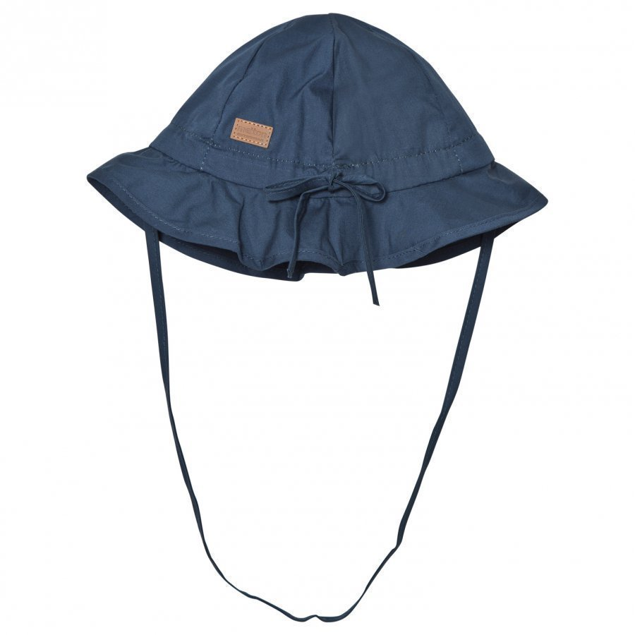 Melton Hat With Brim And Bow Solid Marine Aurinkohattu