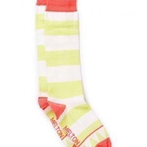 Melton Knee-High Triangle & Stripe