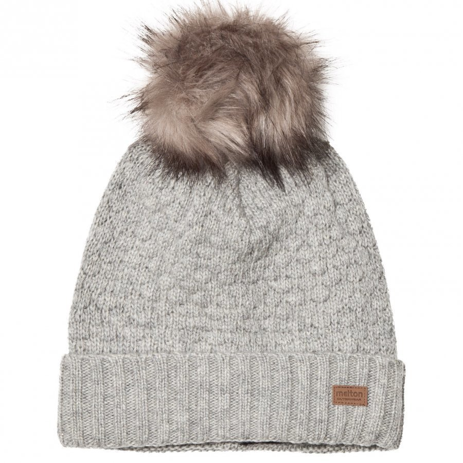 Melton Lamb Wool Sailor Hat Grey Pipo
