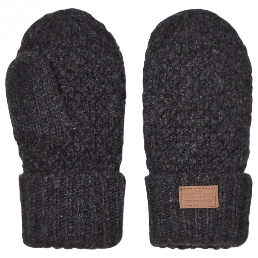 Melton Lamb Wool Sailor Mittens Dark Grey Fleece Lapaset