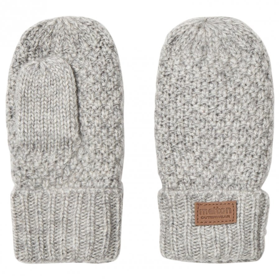 Melton Lamb Wool Sailor Mittens Light Grey Fleece Lapaset