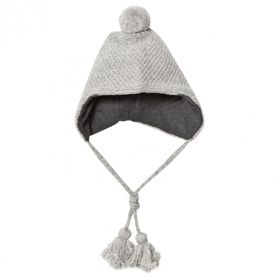 Melton Lamb Wool Sailor Tassel Hat Light Grey Pipo