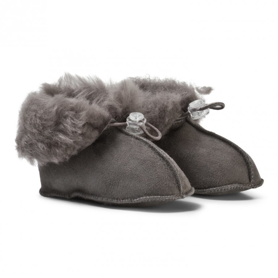 Melton Lamb Wool Shoes Dark Grey Vauvan Kengät