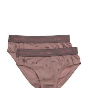 Melton Numbers 2-Pk Aop Girl Briefs