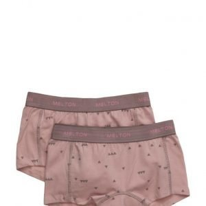 Melton Numbers 2-Pk Aop Girl Shorts