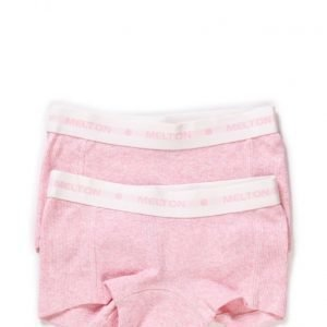 Melton Numbers 2-Pk Rib Girl Shorts