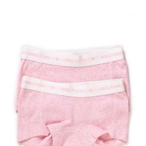 Melton Numbers 2-Pk Rib Girl Shorts