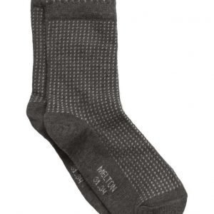 Melton Structure Sock W/Bubble Edge