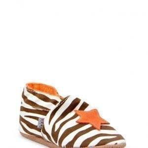 Melton Textile Shoe Zebra Star