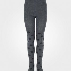 Melton Tights Lurex Dots Dark Grey Melange Sukkahousut