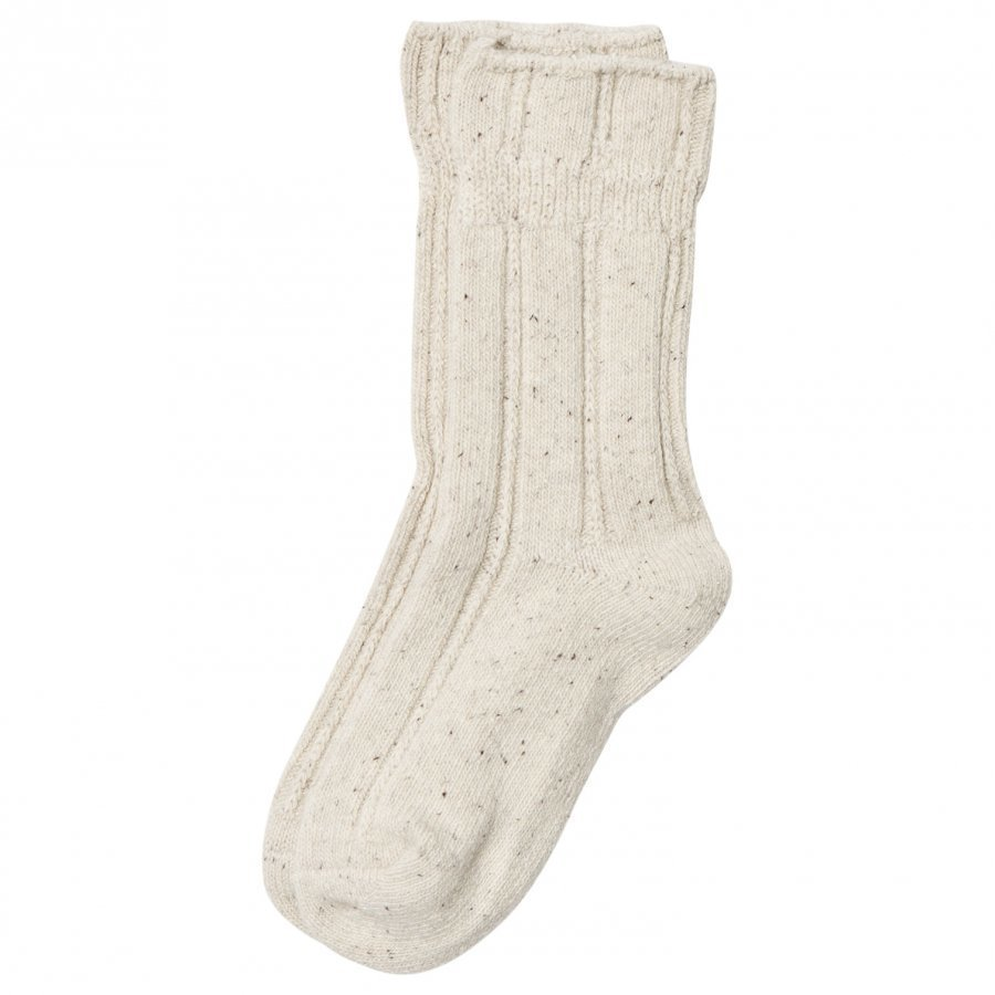 Melton Wool Sock Nature Melange Sukat