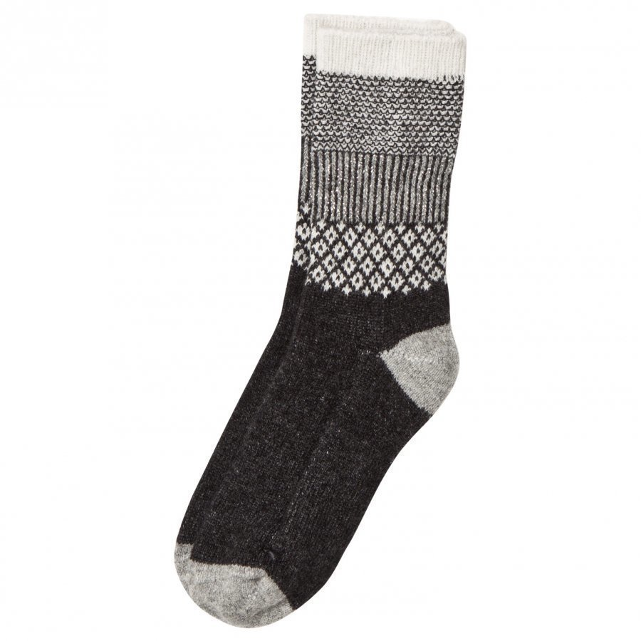 Melton Wool Socks Dark Grey Sukat