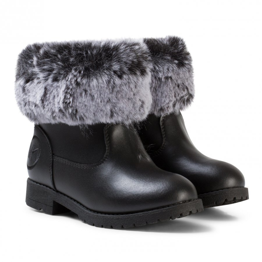Michael Kors Black Faux Fur Lined Zia Dhalia Dori Boots Nilkkurit