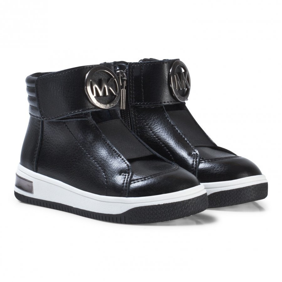Michael Kors Black Logo Leather Zia Tatum June-T Zip Trainers Lenkkarit